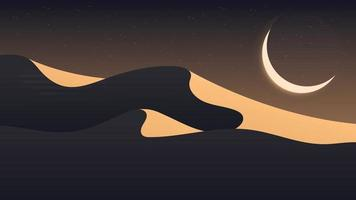 Desert landscape background vector design illustration