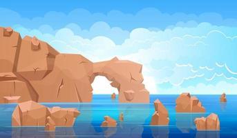 Sea landscape background vector design illustration