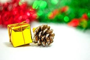 Gold present and pinecone