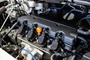 motor de coche moderno foto