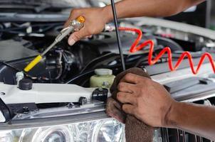 Close-up of car repair