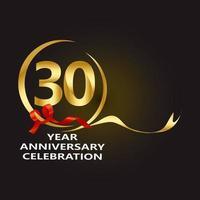 Ilustración de diseño de plantilla de vector de aniversario de 30 años