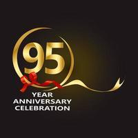 95 Year Anniversary Vector Template Design Illustration