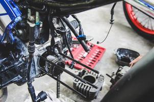 Motored bicycle repair