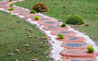 Walking path stones photo