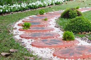 Garden walking path photo