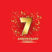 7 Year Anniversary Vector Template Design Illustration