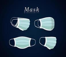 Medical blue masks vector design