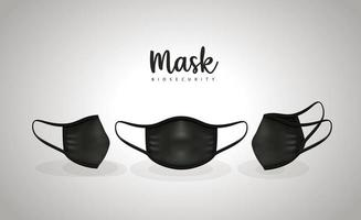Medical black masks vector design