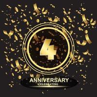 4 year anniversary logo template vector