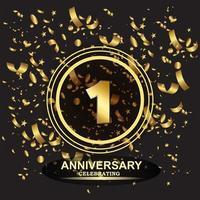 1 year anniversary logo template vector