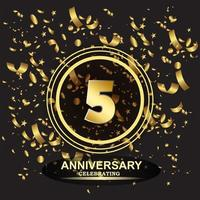 5 year anniversary logo template vector