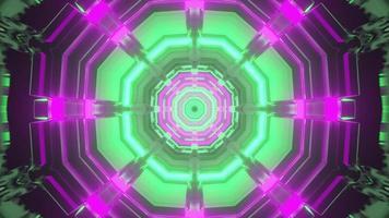 Sci fi corridor in neon illumination 3d illustration photo