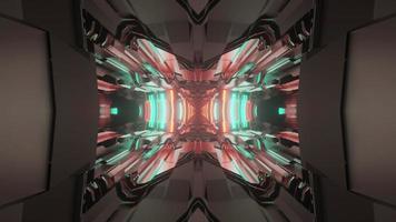 3d illustration of futuristic glowing corridor photo