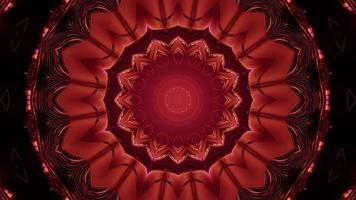 3d illustration of ornamental red tunnel photo