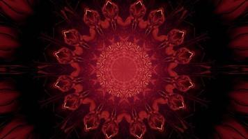 3d illustration of ornamental shiny red tunnel photo