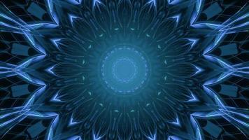 Glowing blue neon pattern 3d illustration photo