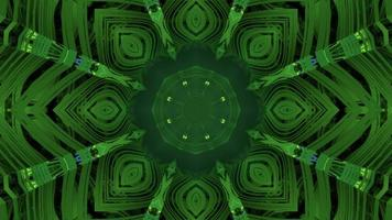 Green tunnel with ornamental pattern 3d illustration photo