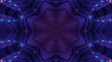 Glowing purple geometric ornament 3d illustration photo
