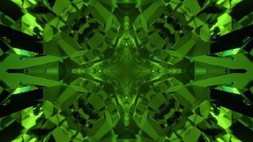 3D illustration of kaleidoscopic green crystals photo