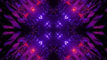 3D illustration of abstract ornament in darkness photo