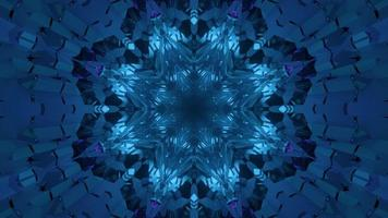 3D illustration of snowflake shaped ornament photo
