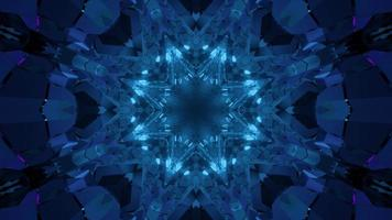 3D illustration of star shaped crystal photo