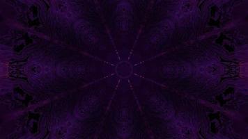 Purple neon ornament in darkness 3d illustration photo