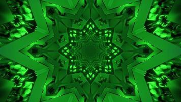 3D illustration on neon abstract tunnel photo