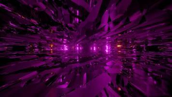 Ilustración 3d de túnel futurista distorsionado foto