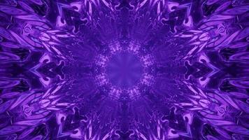 3D illustration of creative violet ornament photo