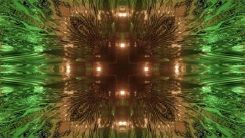 Futuristic geometric tunnel with lights 3d illustration photo