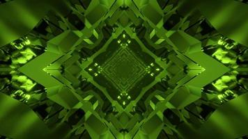 3D illustration of geometric crystal tunnel photo