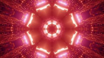 3D illustration of tunnel with bright illumination photo