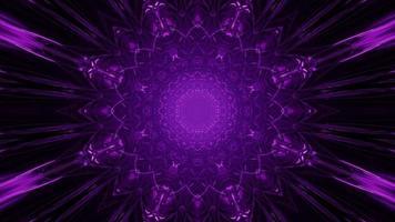 Glowing violet ornamental lights 3d illustration photo