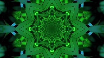 Ilustración 3d de túnel con adorno caleidoscópico foto