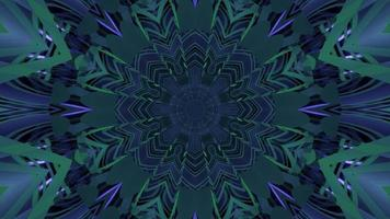 Blue and green kaleidoscopic futuristic background 3d illustration