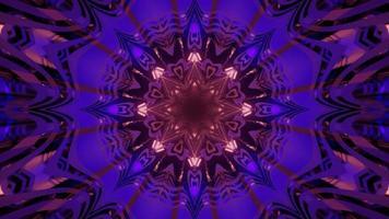 Shiny ornamental kaleidoscopic abstract background 3d illustration