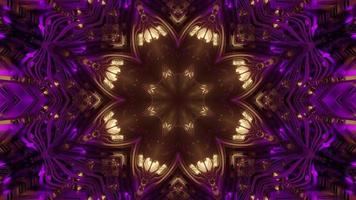 patrón floral brillante con efecto de luz ilustración 3d foto