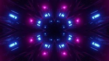 Abstract background of 3D illustration of illuminated cyberspace photo