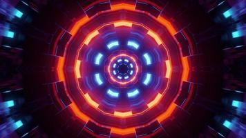 Abstract glowing neon circles 3d illustration