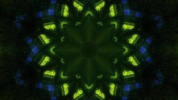 Abstract 3D illustration of neon lights in stars shapes photo