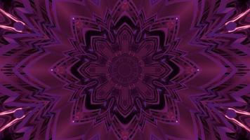 Fractal purple crystal ornament 3d illustration photo