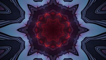 Kaleidoscopic 3D illustration of abstract ornament