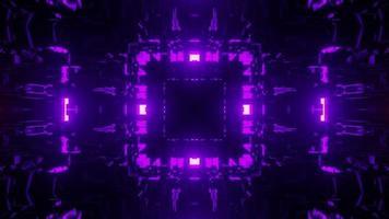 3d illustration of dark neon tunnel photo