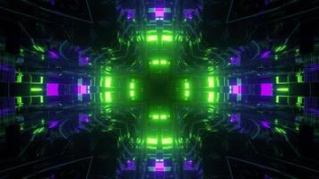 Futuristic neon illumination pattern 3d illustration photo
