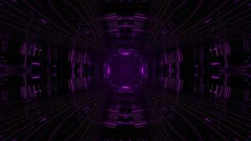 3d illustration of dark endless corridor photo
