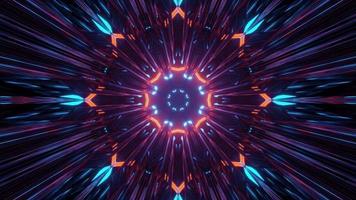 3D illustration of multicolored shiny kaleidoscope ornament photo