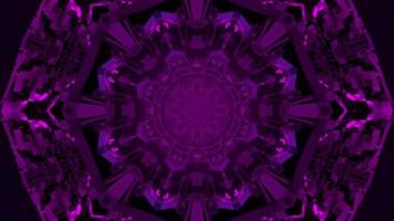 3D illustration of abstract floral ornament in darkness photo