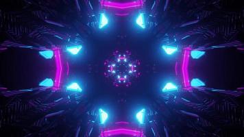 Sci fi spaceship interior 3d illustration photo